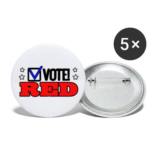 VOTE RED - Buttons large 2.2'' (5-pack)