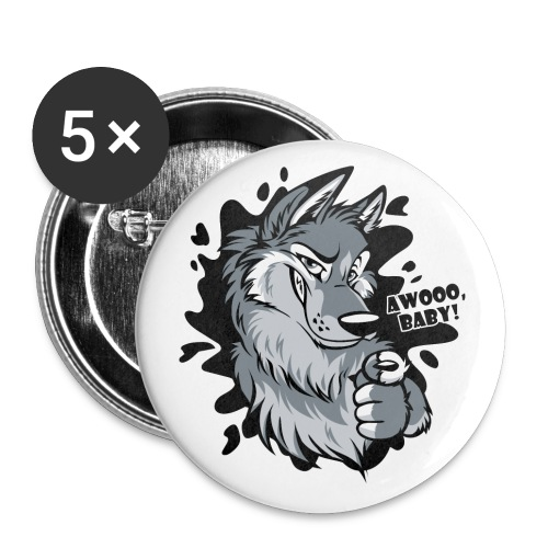 Awooo Baby - Buttons large 2.2'' (5-pack)