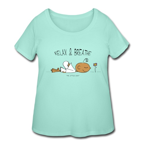 Relax & Breathe - Women's Curvy T-Shirt