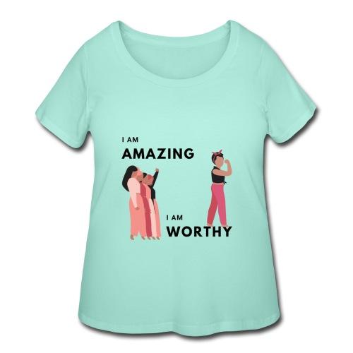 Amazing Short Sleeves T-Shirt - Women's Curvy T-Shirt