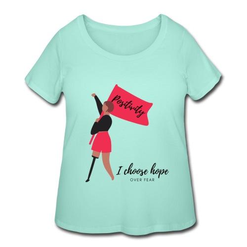Hope over fear Short Sleeves T-Shirt - Women's Curvy T-Shirt