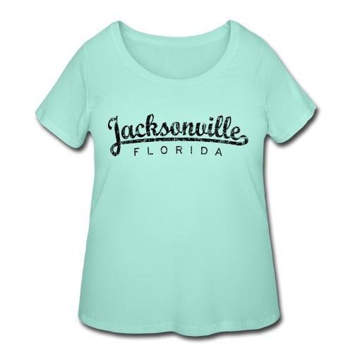 Jacksonville, Florida Classic (Ancient Black) - Women's Curvy T-Shirt