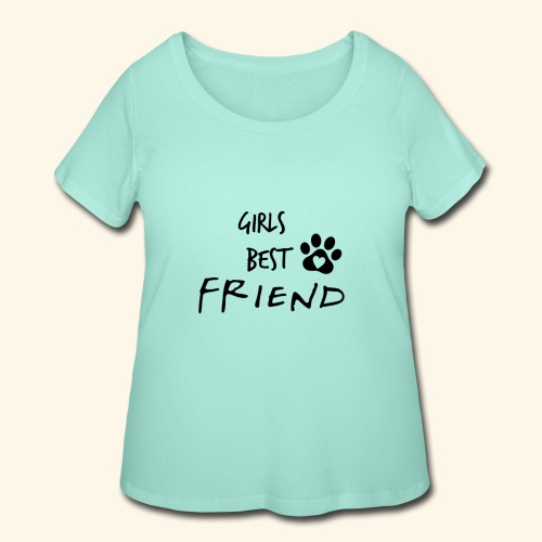 girls best friend Paw Print - Women's Curvy T-Shirt
