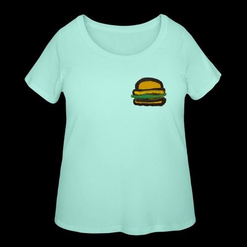 BIG DELICIOUS ART BURGER! - Women's Curvy T-Shirt