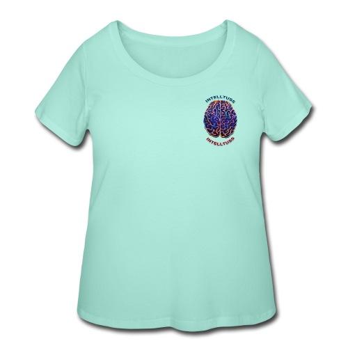 IntellTuss Shirt (pocket design) - Women's Curvy T-Shirt