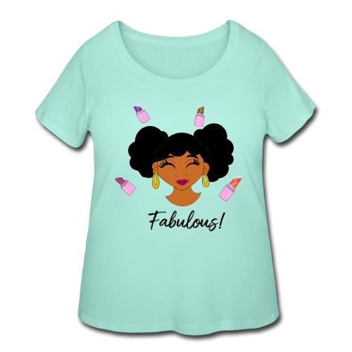 fabulous lipstick - Women's Curvy T-Shirt