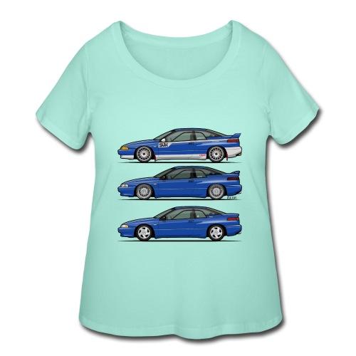 Subie Alcyone SVX Laguna Blue Pearl Trio - Women's Curvy T-Shirt