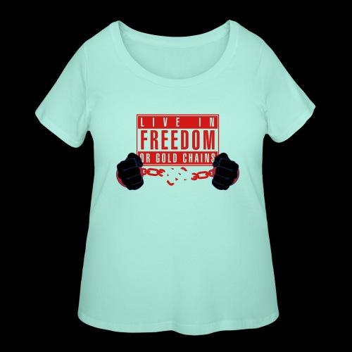 Live Free - Women's Curvy T-Shirt