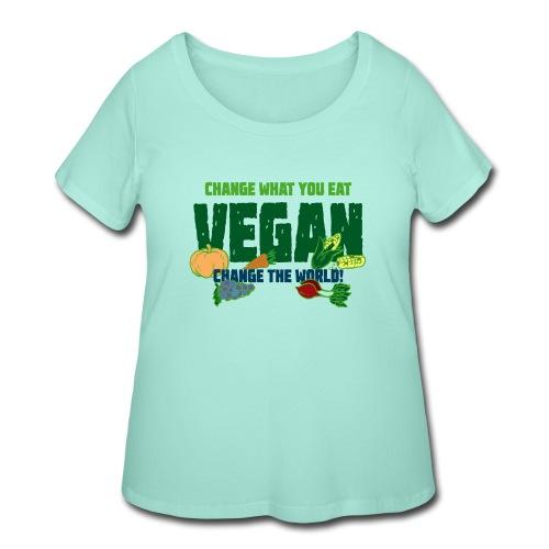 Change what you eat, change the world - Vegan - Women's Curvy T-Shirt