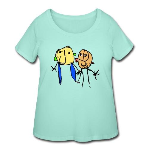 couple - Women's Curvy T-Shirt