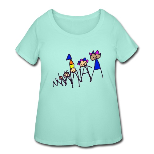 The king family - Women's Curvy T-Shirt