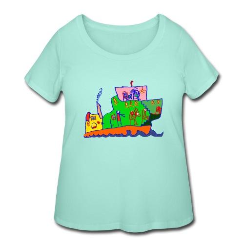 Ship - Women's Curvy T-Shirt