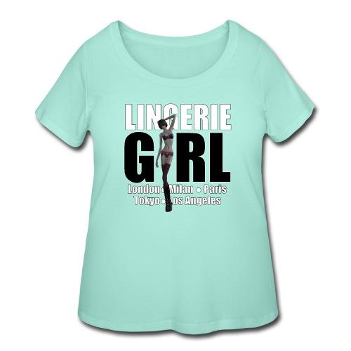 The Fashionable Woman - Lingerie Girl - Women's Curvy T-Shirt