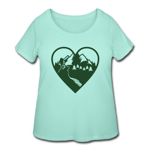 Hiking Love - Women's Curvy T-Shirt