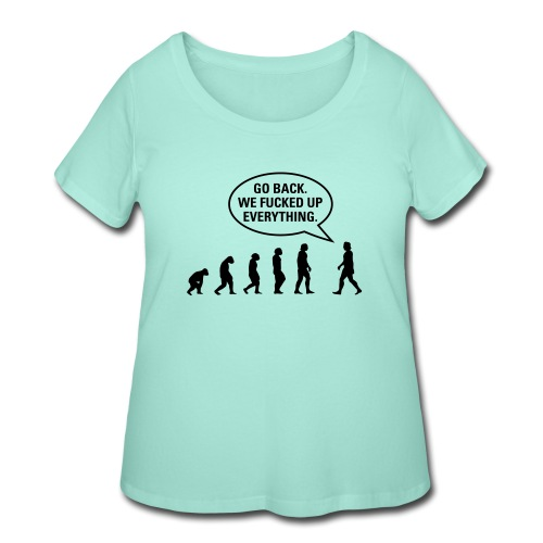 Fucked up Evolution - Women's Curvy T-Shirt