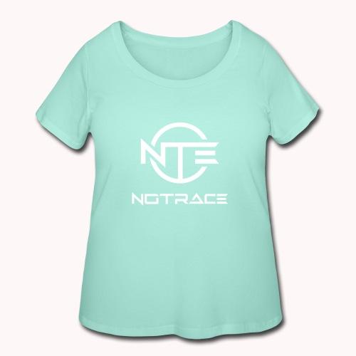NoTrace WHITE Logo - Women's Curvy T-Shirt