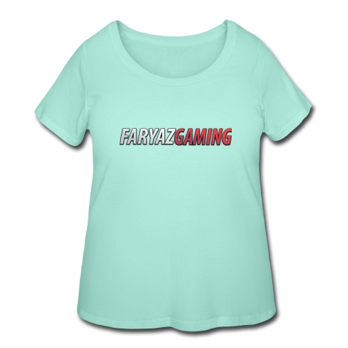 FaryazGaming Text - Women's Curvy T-Shirt