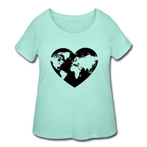Earth Love - Women's Curvy T-Shirt