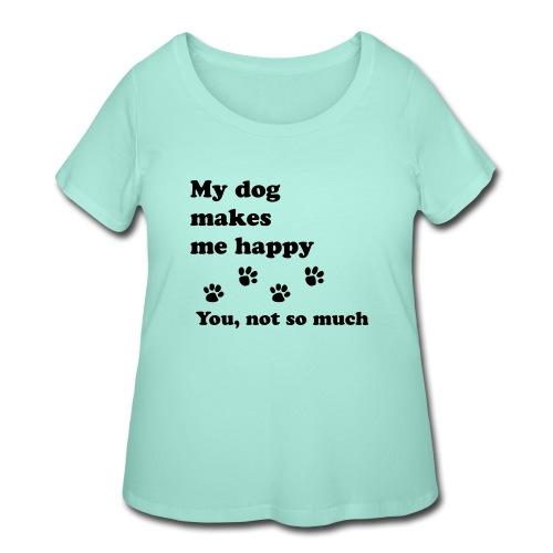 love dog 2 - Women's Curvy T-Shirt