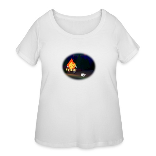 'Round the Campfire - Women's Curvy T-Shirt