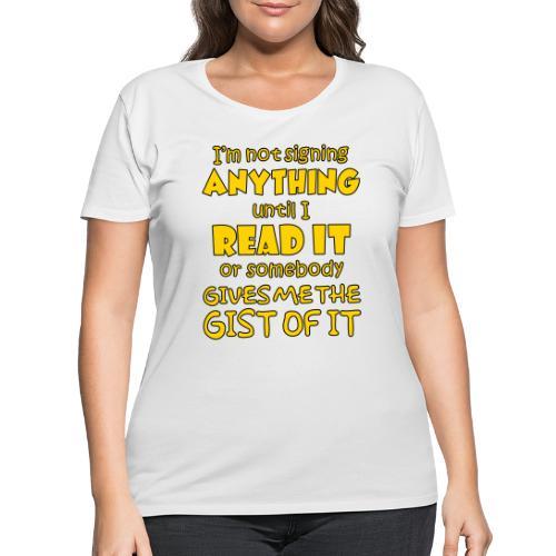 Not Signing Anything - Women's Curvy T-Shirt