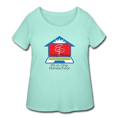 EP Logo with All-In-One Homeschool - Women's Curvy T-Shirt