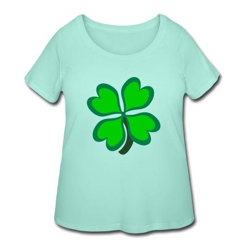 4 leaf clover - Women's Curvy T-Shirt