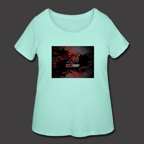 RedOpz Splatter - Women's Curvy T-Shirt