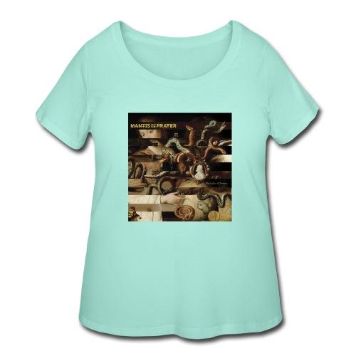 Mantis and the Prayer- Butterflies and Demons - Women's Curvy T-Shirt