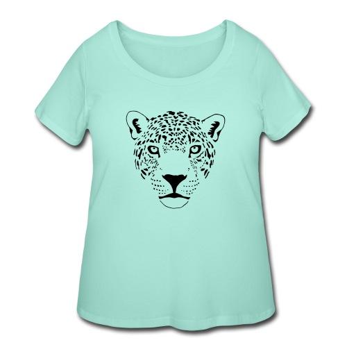 jaguar cougar cat puma panther leopard cheetah - Women's Curvy T-Shirt