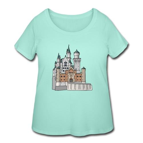 Neuschwanstein Castle, Bavaria - Women's Curvy T-Shirt