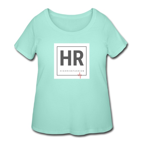 HR - HighRiskFashion Logo Shirt - Women's Curvy T-Shirt