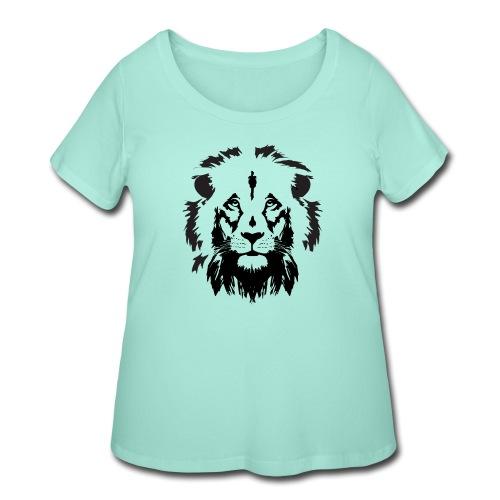 Lion head - Women's Curvy T-Shirt