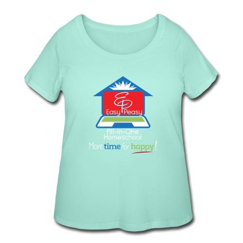 EZPZ Logo All-in-One Homeschool and Tagline - Women's Curvy T-Shirt