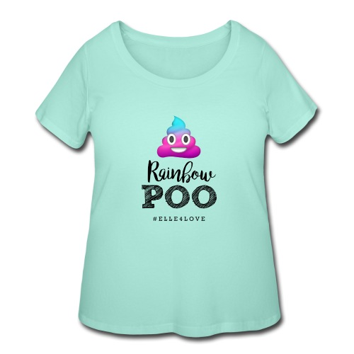 Rainbow Poo - Women's Curvy T-Shirt