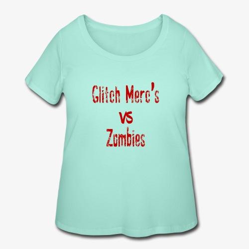 glitch zombie red - Women's Curvy T-Shirt
