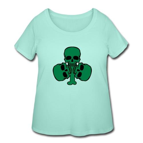 Skull Shamrock w/ Teeth - Women's Curvy T-Shirt