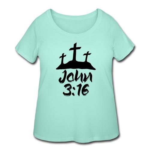 John 3:16 - Women's Curvy T-Shirt