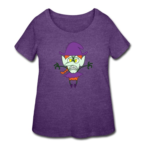 Scary Halloween Witch - Women's Curvy T-Shirt
