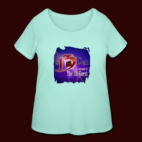 The 13th Doll Logo With Lightning - Women's Curvy T-Shirt