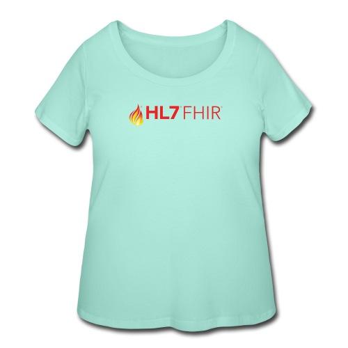 HL7 FHIR Logo - Women's Curvy T-Shirt