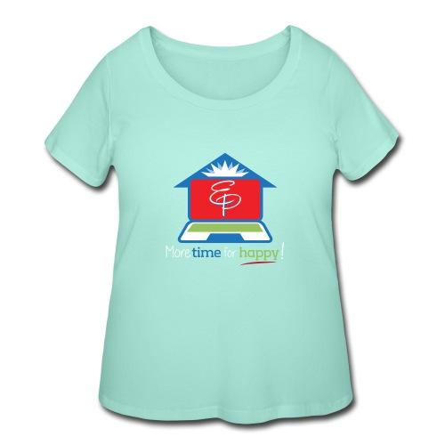 EZPZ Logo Tagline - Women's Curvy T-Shirt