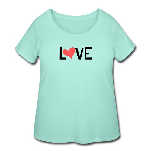 LOVE heart - Women's Curvy T-Shirt