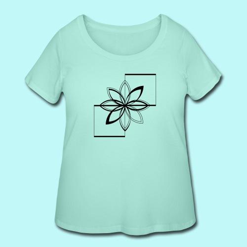 Colour Me DAIZEY Blue - Women's Curvy T-Shirt