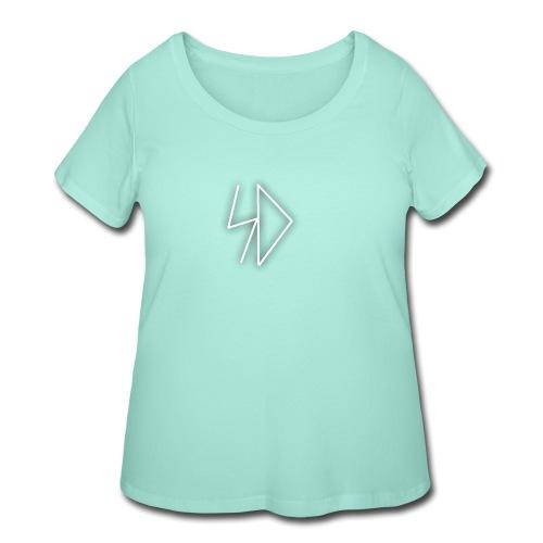 Sid logo white - Women's Curvy T-Shirt