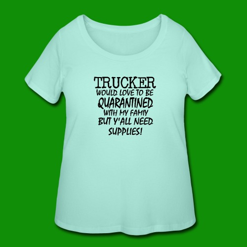 TRUCKERSUPPLIES - Women's Curvy T-Shirt