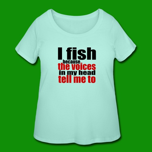 Fishing Voices - Women's Curvy T-Shirt