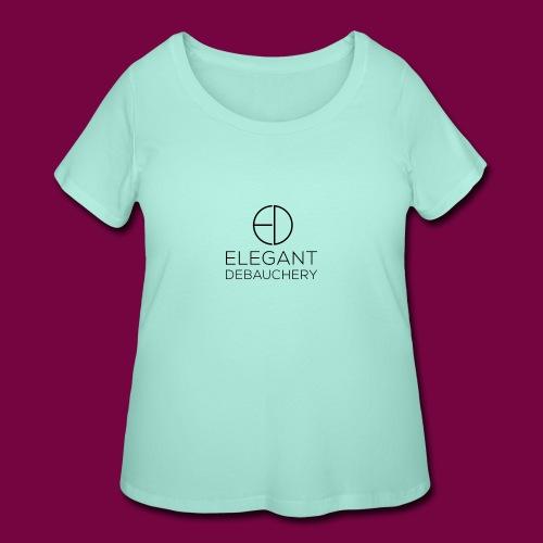 Elegant Debauchery Logo Stacked - Women's Curvy T-Shirt