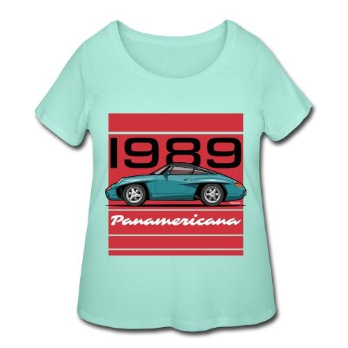 1989 P0r5che Panamericana Concept Car - Women's Curvy T-Shirt