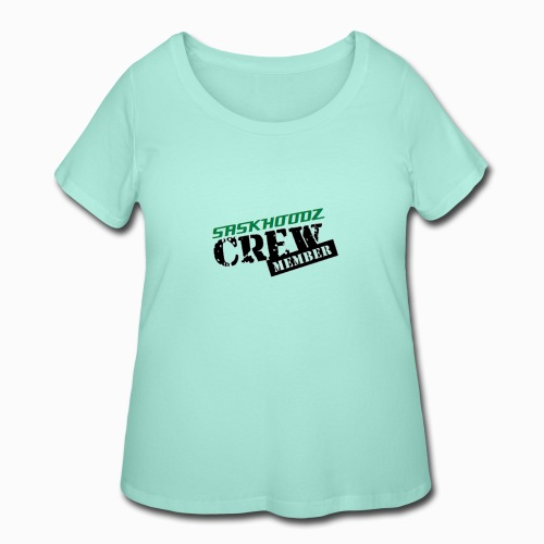 saskhoodz crew - Women's Curvy T-Shirt